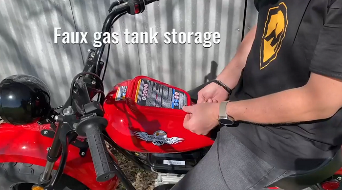 Massimo Motor Warrior 200 - Faux Gas Tank Storage
